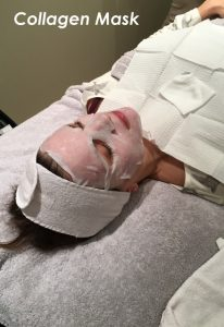 Collagen Mask used for Microneedling