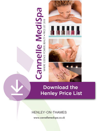 Henley Cannelle Medispa Beauty treatment price list