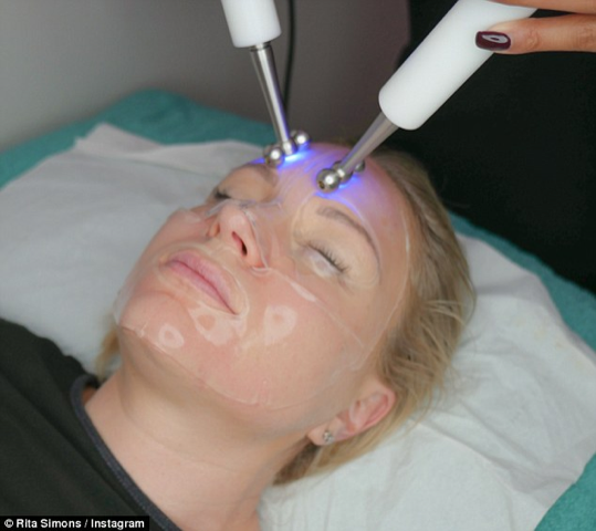 Rita Simons treats herself to a CACI facial