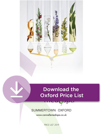 Oxford Cannelle Medispa beauty treatments price list