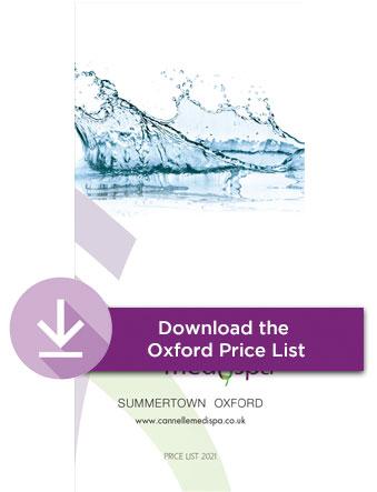 Oxford Cannelle Medispa beauty treatments price list