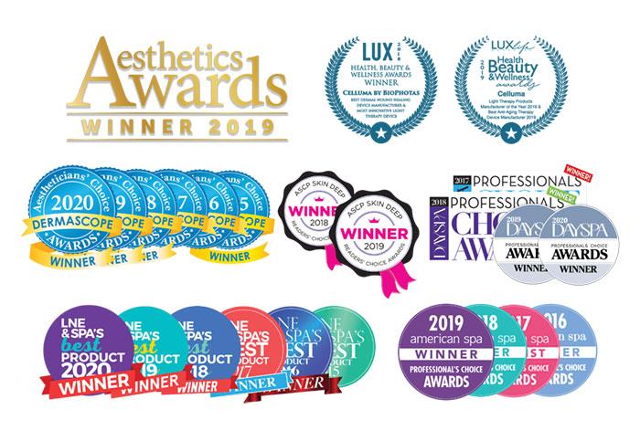Celluma LED Light Therapy Awards